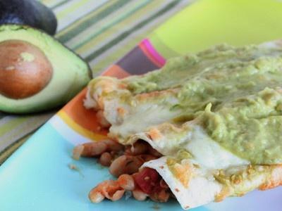 White Bean and Avocado Enchiladas   Food   Pinterest