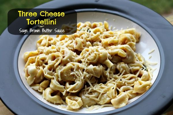 ... Pasta Day With Barilla! Three Cheese Tortellini with Sage Brown
