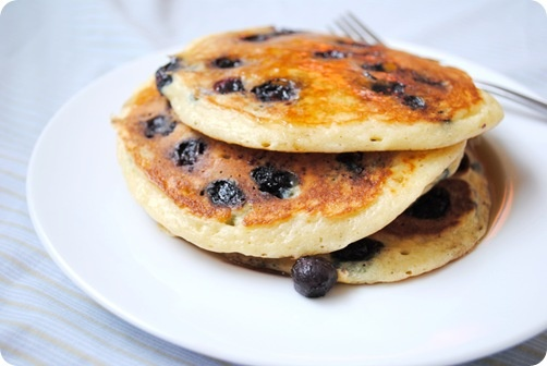Blueberry Buttermilk Pancakes | Laura's Recipe Collection | Pinterest