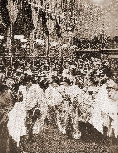 This picture is of real Can-Can dancers at the Moulin Rouge in the 1890's.