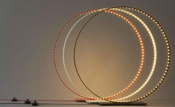 Cercles lumineux leds le deun lumi re pinterest - Lampe cercle led ...