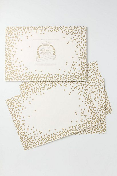 Confetti Paper Placemats / Anthropologie.com #entertaining #sparkle