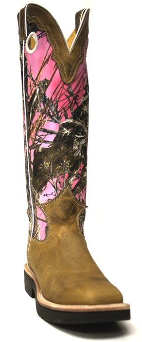 s justin boots pink true timber with snake guard