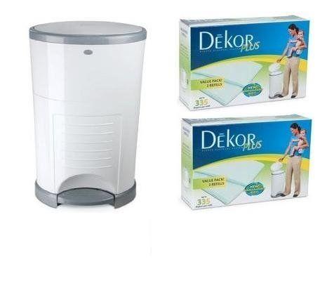 dekor diaper pail how to change bag