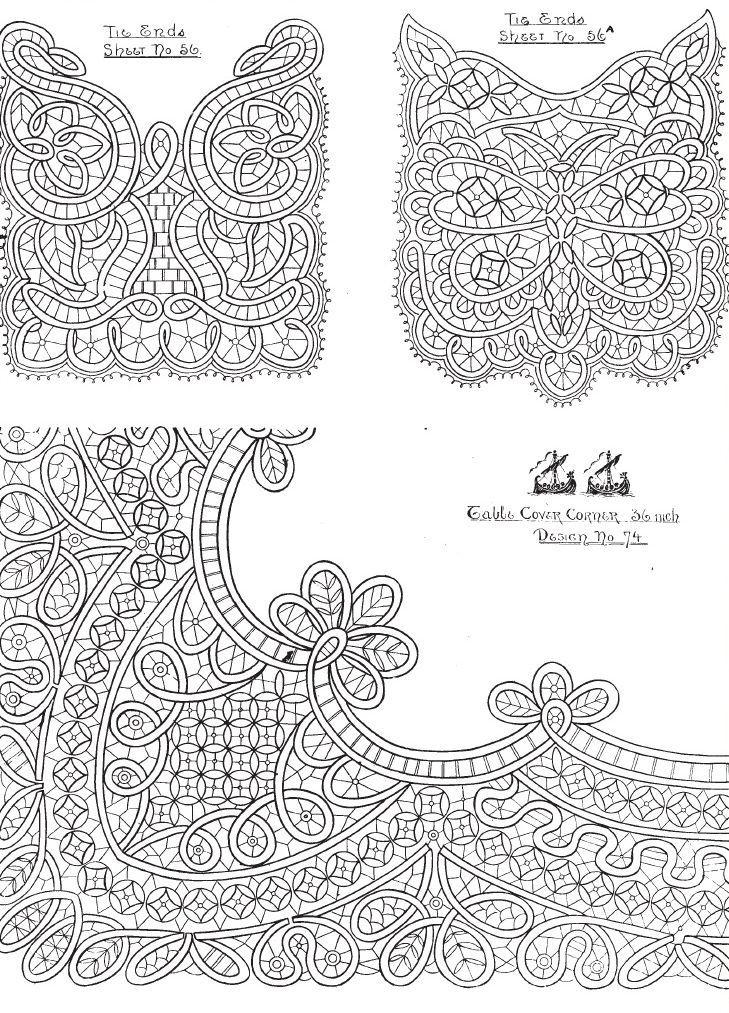Вязание крючком румынского кружева 594