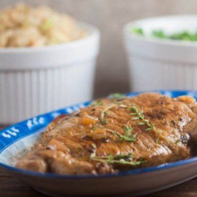 Pork Chops With Norman Cider Cream Sauce And Thyme Recipes ...