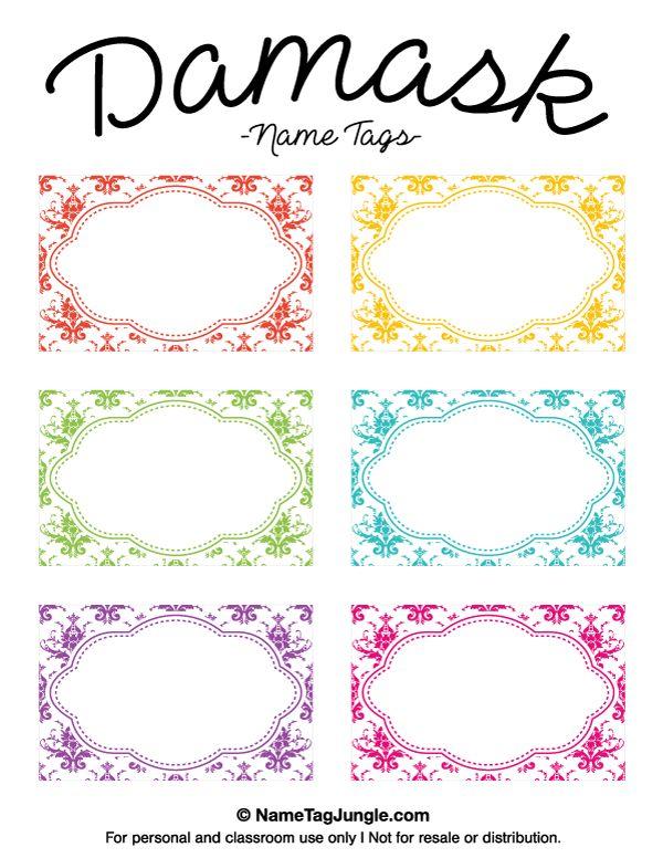 Printable Name Tag Template | kicksneakers.co