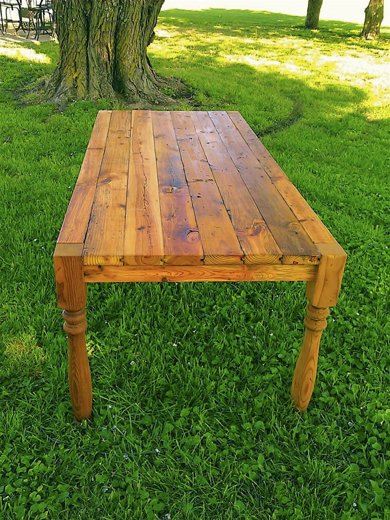 outdoor dining table from reclaimed wood house plans pinterest