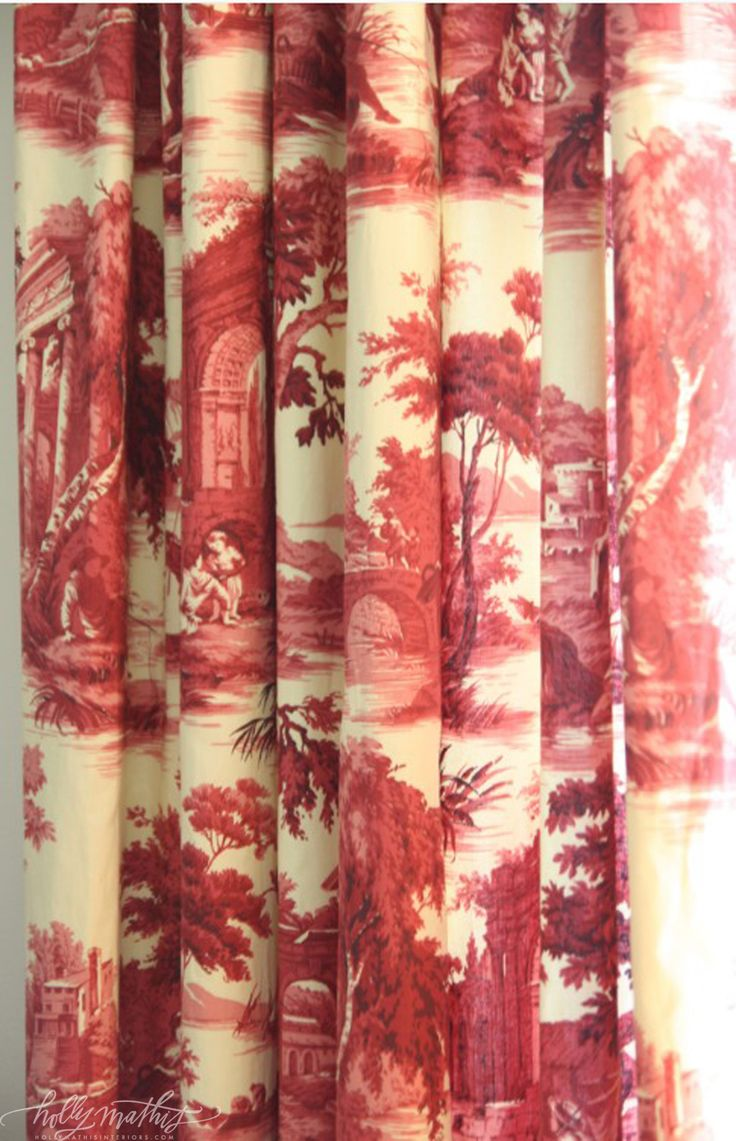 Beautiful Toile curtains   Toile Tales   Pinterest