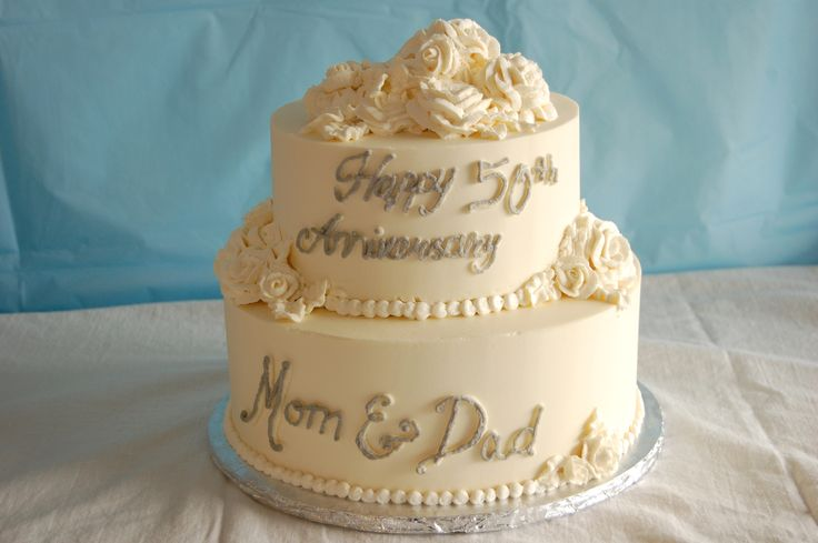 Simple Anniversary Cake Images : Simple 50th anniversary cake Wedding Cakes Pinterest