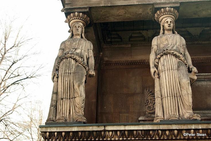 Two of the four caryatids at St Pancras Parish Church