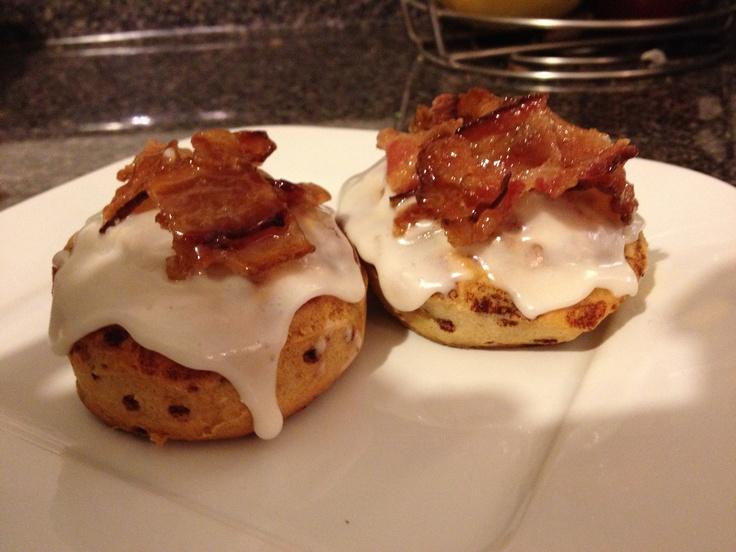 Maple glazed bacon cinnamon rolls | Recipes | Pinterest