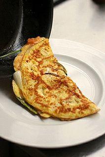 Kimchi Omelet Recipe by David Lebovitz