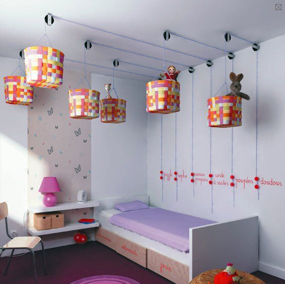 Oh my goodness - maybe the most brilliant kid stuff storage idea ever...
