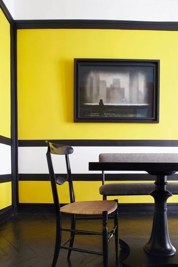 Black and Yellow living-room | More photos http://petitlien.fr/6ebr