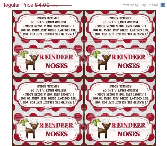 Reindeer Noses Bag Toppers | Printables..... | Pinterest