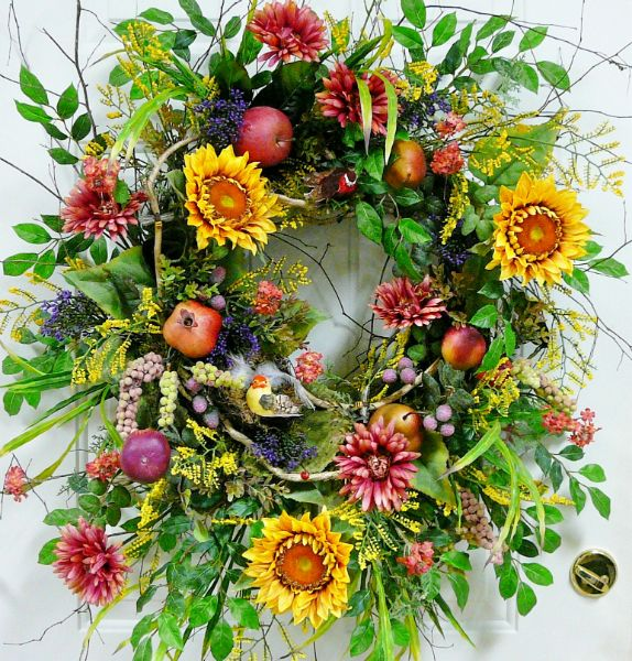 summer wreath ideas google search gardening pinterest