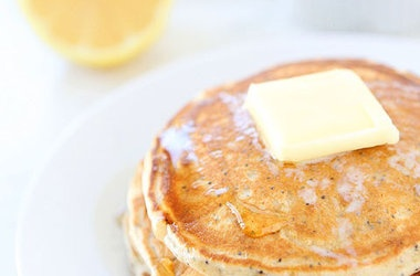 Lemon Poppyseed Yogurt Pancakes — Punchfork
