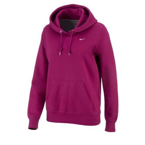 nike classic fleece pullover hoodie 596330 605 new womens pink sweatshirt top ebay. Black Bedroom Furniture Sets. Home Design Ideas