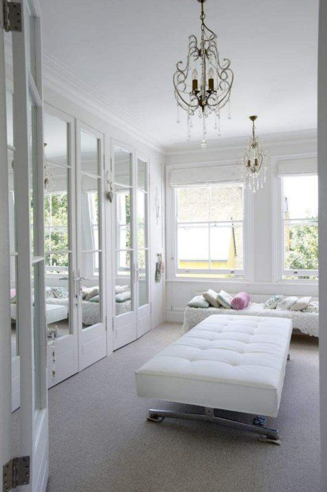 white walk in closet for the home pinterest