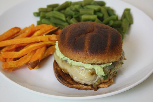 salsa verde turkey burger | Fabulous food | Pinterest