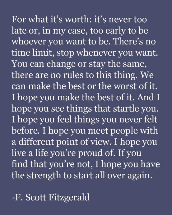 It's ok to start again!