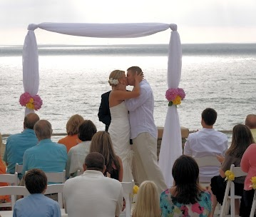 Pretty, simple arch for the ceremony