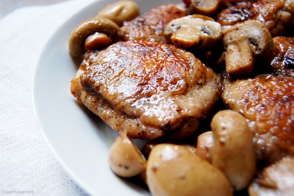 Pan-Roasted Chicken with Mushrooms. | Recipes | Pinterest