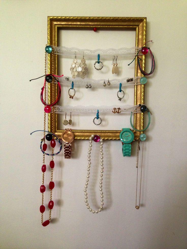Diy jewelry organizer diy crafts ideas pinterest for Jewelry organizer ideas