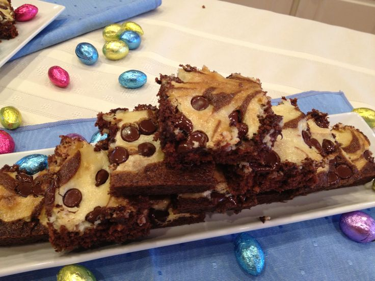 Cheesecake-Marbled Brownies Recipes — Dishmaps