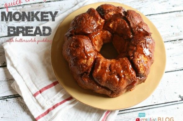 Monkey Bread Recipe Butterscotch Pudding | TodaysCreativeBlog.net