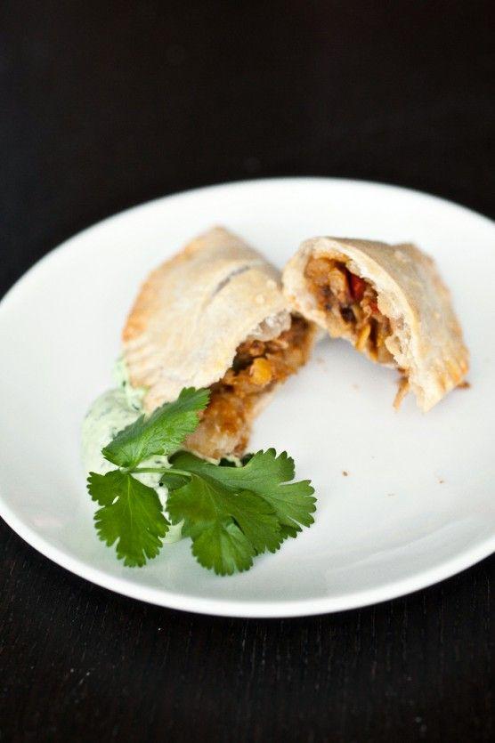 Spicy Empanadas with Cilantro Cream // Not Without Salt