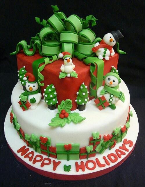 Holiday Present Cake | #christmas #xmas #holidays #xmaswedding #christmaswedding