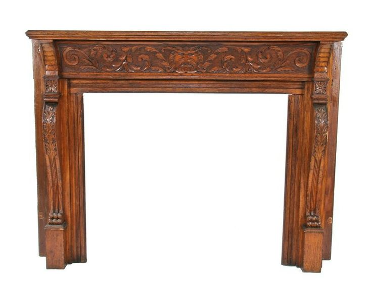 Antique wood fireplace mantels