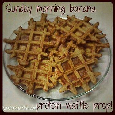Banana Protein Waffles...with recipe.