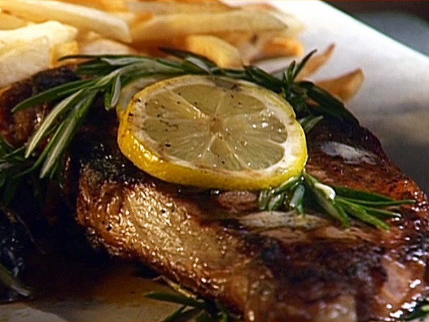 Grilled Rib-Eyes with Rosemary-Shallot Butter | Recipe