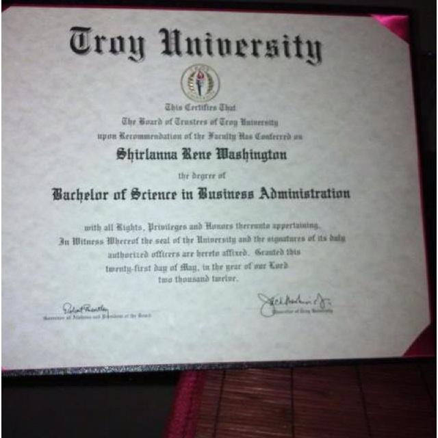 My daughter's diploma. So proud.