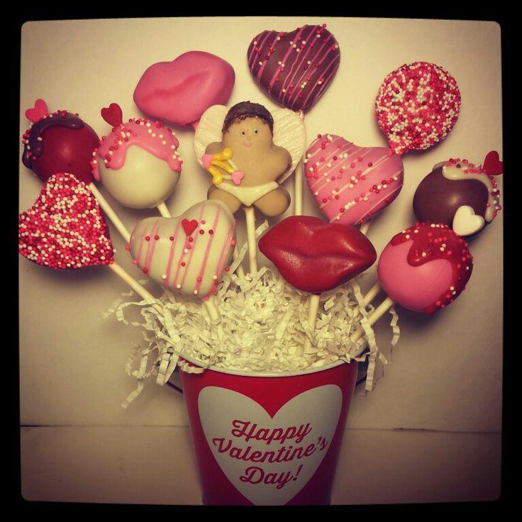 Valentine's Day cake pops | Idea | Pinterest