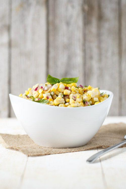 Simple Corn and Basil Salad | Recipe