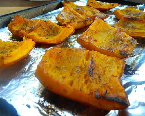 Roasted pumpkin. My dad used to cook this for us and I loved it.