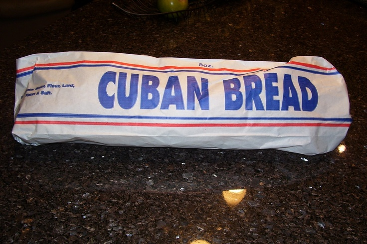Pan cubano (Cuban bread; I really miss seeing this bread bag at home.)