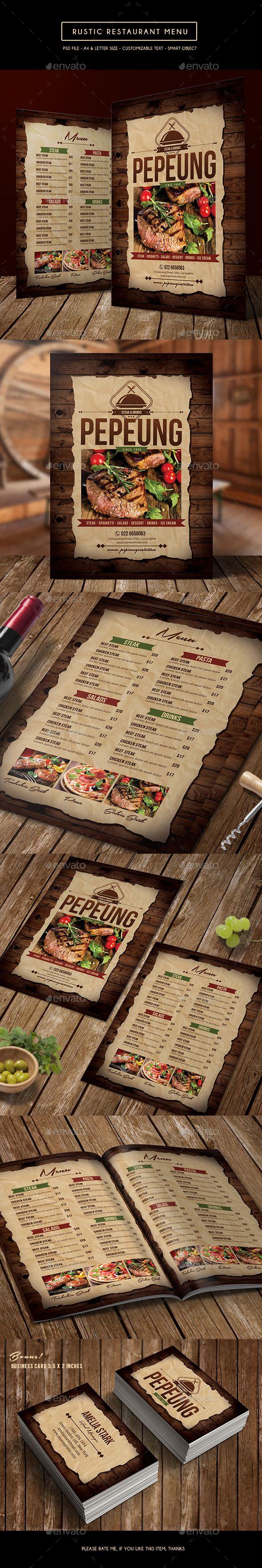 Дизайн оформления ресторанного меню