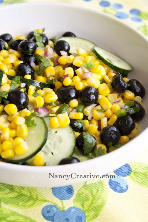 Corn and Blueberry Salad | Food Porn! | Pinterest