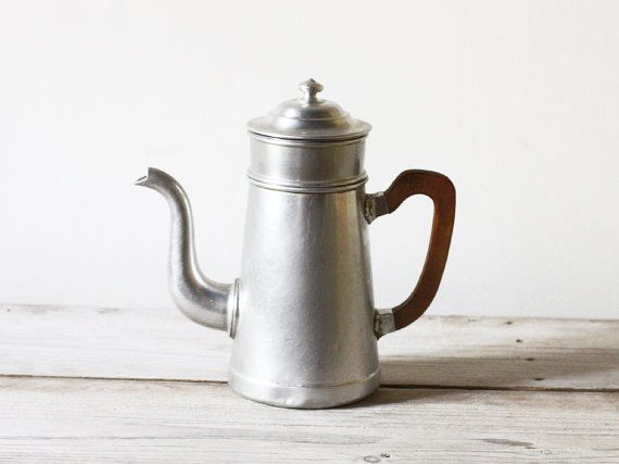 How To Use Vintage Coffee Maker : French vintage coffee pot, Aluminum coffee maker, French cafetiere