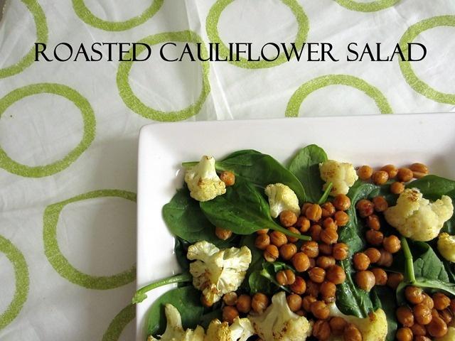 roasted caulilfower salad with chickpeas | Broccoli Hut | Pinterest