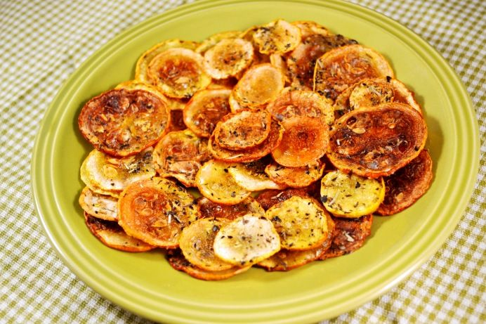 Oven-baked Squash Chips
