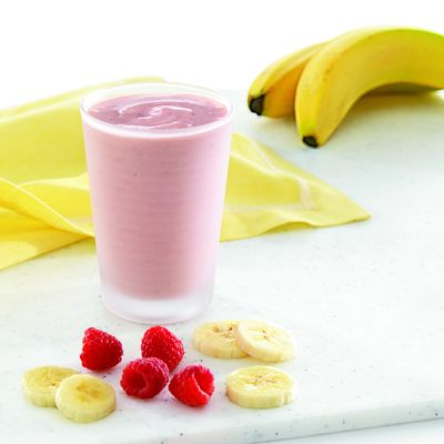 Raspberry Banana Smoothie | healthy food | Pinterest