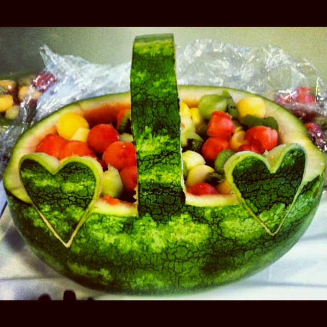 Watermelon Fruit Basket For Graduation Images amp Pictures Becuo