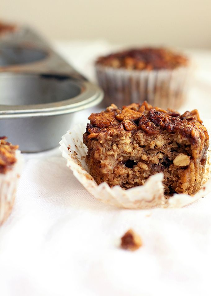 Eat Real Healthy Food | Baked Apple Pie Oatmeal Cups | http ...
