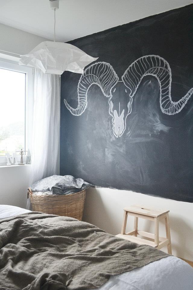 chalkboard paint art bedroom my home pinterest